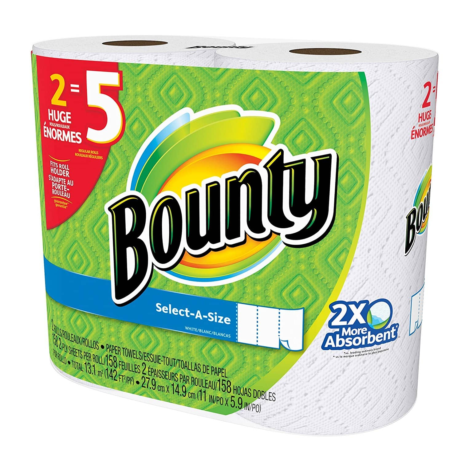 Bounty Select A Size Paper Towels White Huge Roll