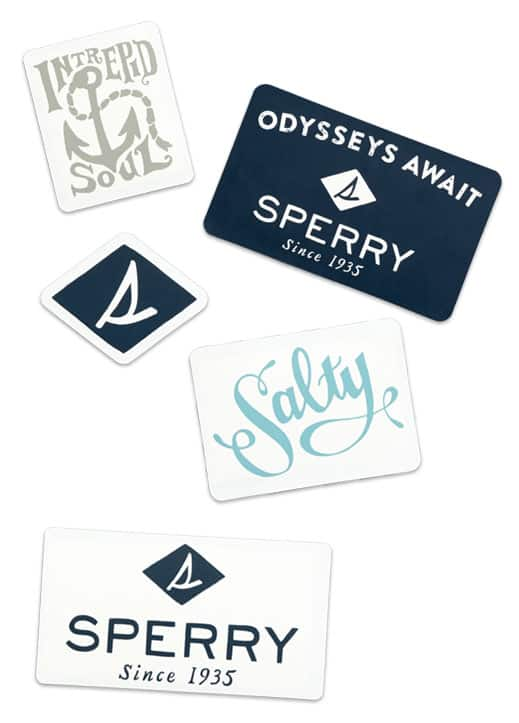 Sticker pack from Sperry - US only
