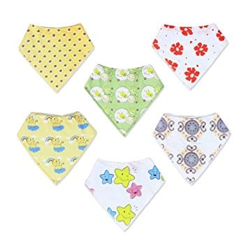 Holiday Deal - 6 Pack Baby Bandana Drool Bibs Unisex at Amazon - $6 - Act Fast
