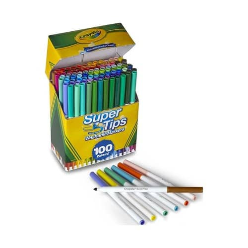 Crayola Super Tips Washable Markers, 100 Count, Bulk, Great for Kids $8.34