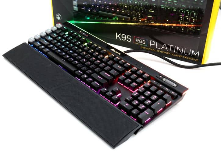 CORSAIR - Gaming K95 RGB PLATINUM Mechanical USB Keyboard $150 - Cherry MX speed / MX Brown