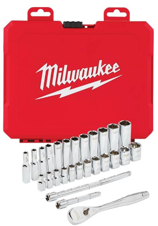 Milwaukee Socket Sets 40% Off at Home Depot: 3/8 Metric or SAE for $59 and 1/4 Metric or SAE for $39