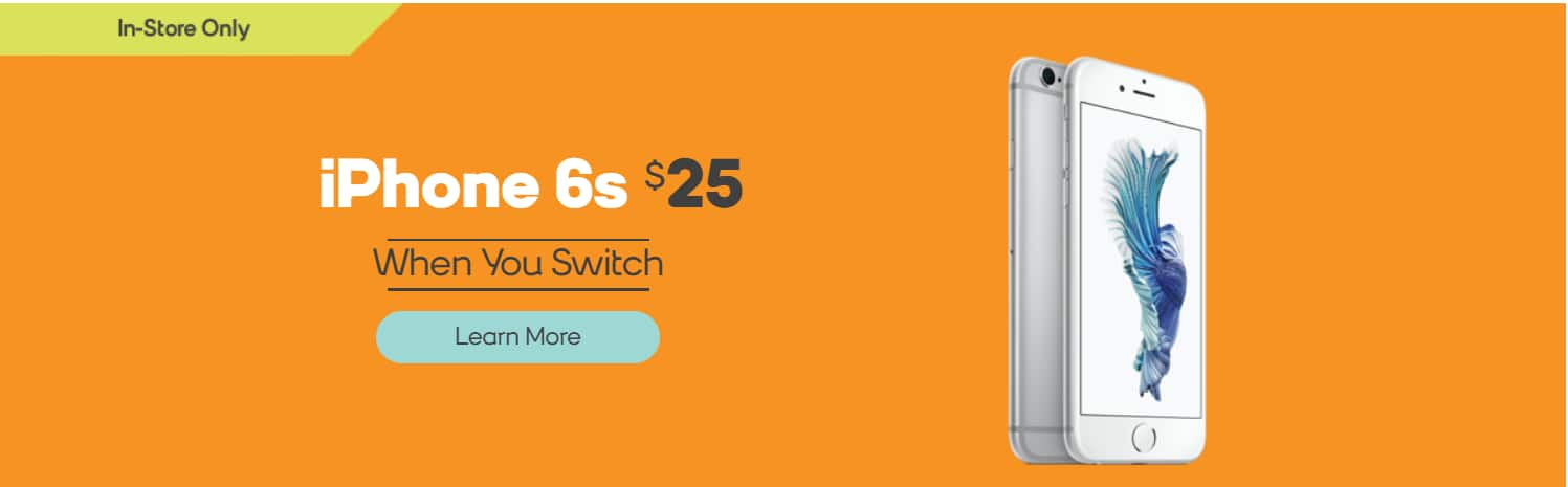 Boost Mobile iPhone 6s 32GB $25 in store only w/ Port in and Activation (min $50 plan)