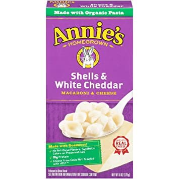 Prime Members: 12 Pack of 6oz Annie's Macaroni and Cheese (White Cheddar) for $9.29 @Amazon