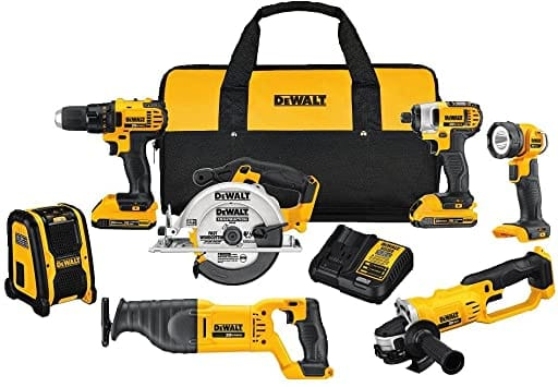 Lowes - DEWALT 7-Tool 20-volt Max Power Tool Combo Kit with Soft Rolling Case with 2 battery and a charger $399