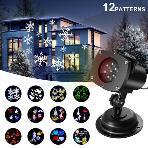 Christmas Outdoor Waterproof Switchable Pattern Rotating Projection Light (Copper) $13.50 @Amazon