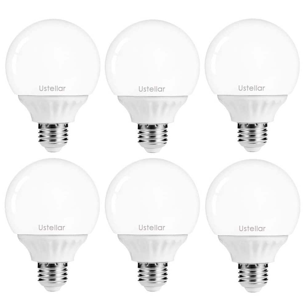 Ustellar 6 Pack 40W Equivalent  G25 LED bulbs (5000K, Daylight White) $16.79 @Amazon