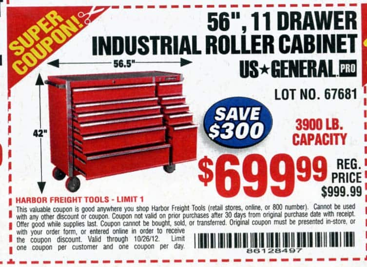 Harbor freight tool chest coupon 2018