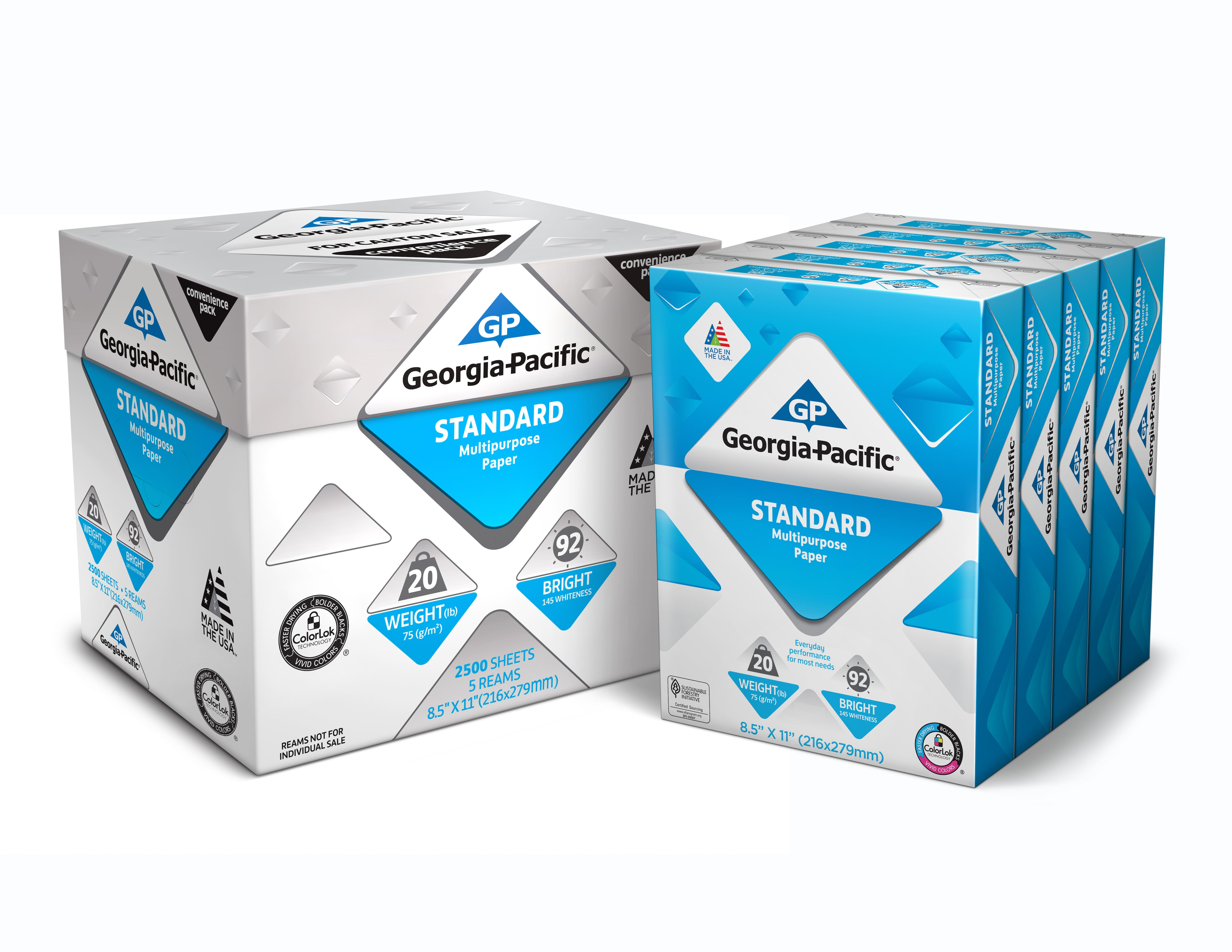 Georgia-Pacific Standard Printer Paper Ream 8.5 x 11, 20lb/92 Bright, 2500 Sheets Walmart YMMV $4.50 $4.49