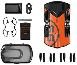 Wingsland Drone Quadcopter S6 4k Orange Advanced Version 2 Bundle Amazon.com @ $299.99