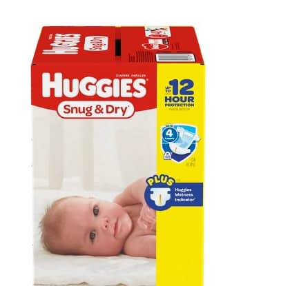 HUGGIES Snug & Dry, Size 1, 296 Diapers, $40.98 ($0.14/diaper), ($0.11/diaper with gift card)