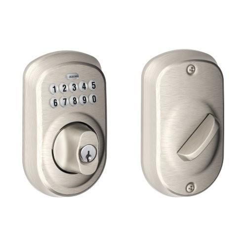 Schlage Plymouth Keypad Deadbolt, Satin Nickel, Amazon $70.14