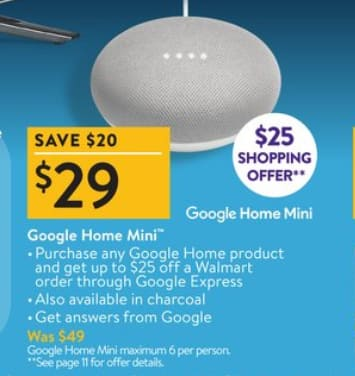 $4 Google Home Mini (Effective price) - Black Friday $29