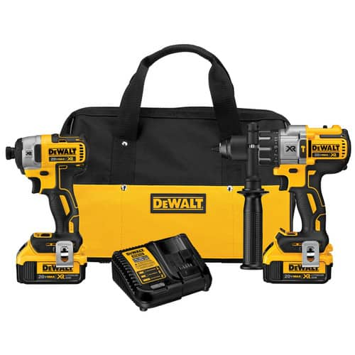 DEWALT XR 2-Tool 20-Volt Max Lithium Ion (Li-ion) Cordless Combo Kit with Soft Case and 20-Volt Max 6-1/2-in Cordless Circular Saw with Brake