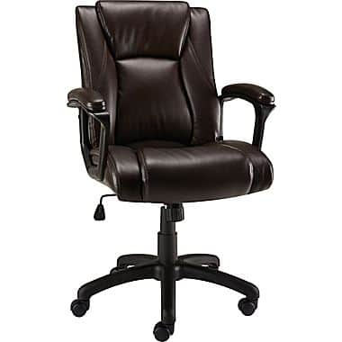 (EXPIRED) Staples B&M - Bristone Manager's Chair, Brown/Black $11.50 Clearance YMMV