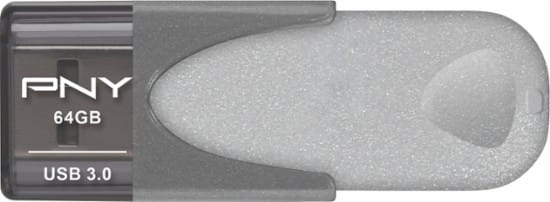 PNY Elite Turbo Attache 4 64GB USB 3.0 Flash Drive $14.99 w/ Store Pickup or $20.48 Shipped at Best Buy