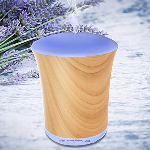 Aromatherapy Diffusers For Essential Oils 200ml Essential Oil Diffuser With 8 Color LED Lights $7 @Amazon