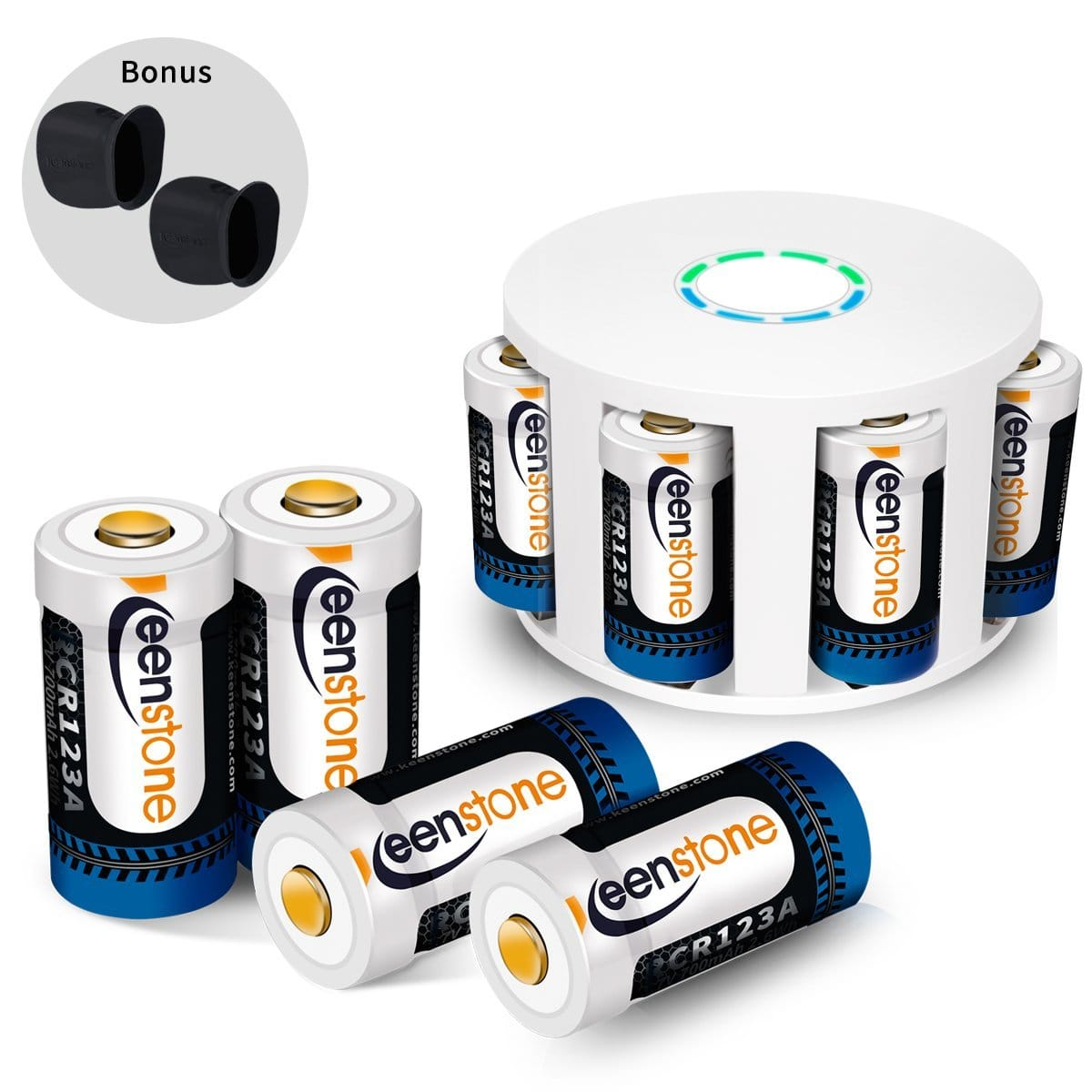 8pc RCR123A Rechargeable Batteries and Charger $41.24 FS