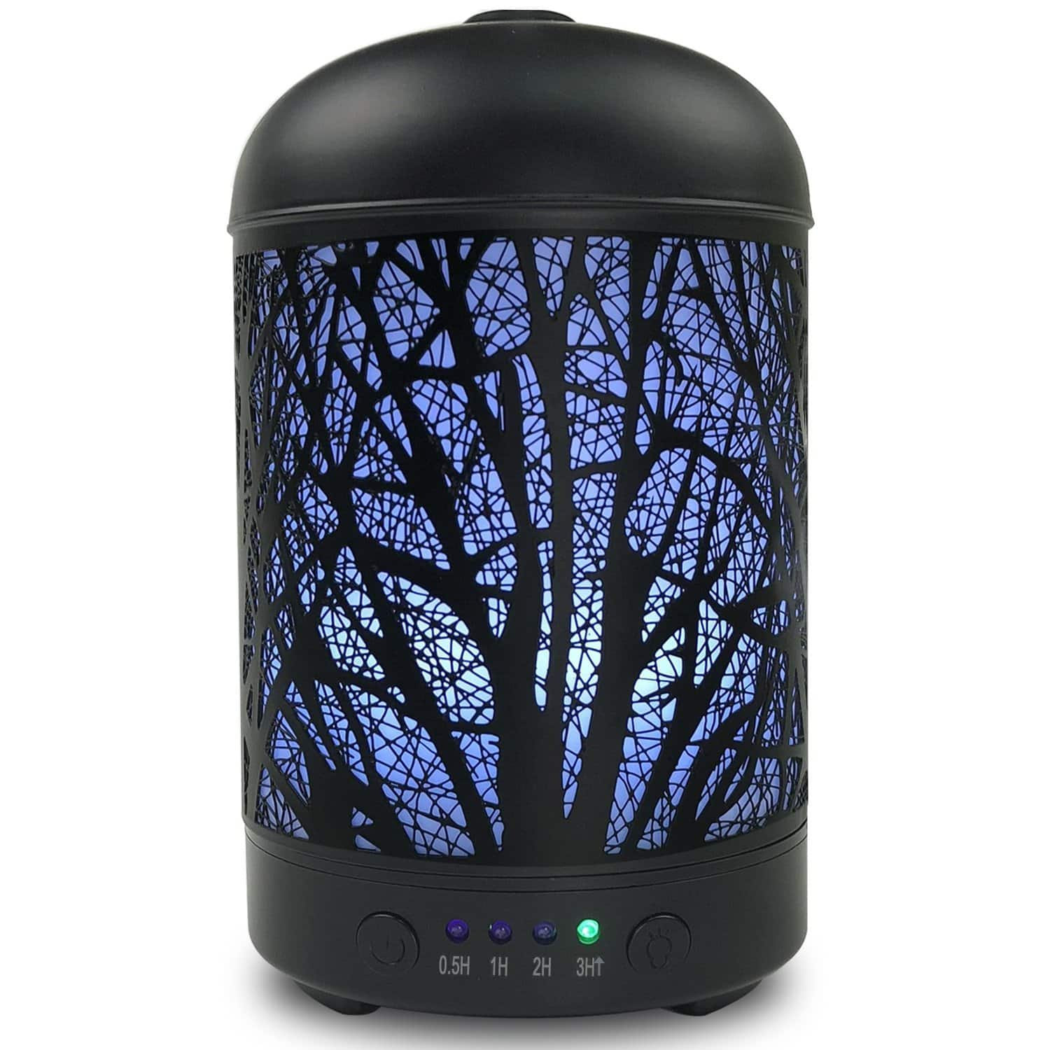 "Aromatherapy Essential Oil ""Metal Forest"" Diffuser w/ 7 Light Colors - $22.39 FS"