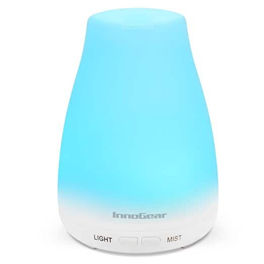 Aromatherapy Essential Oil Diffuser & Cool Mist Humidifier with 7 Color LED Lights - $9.91