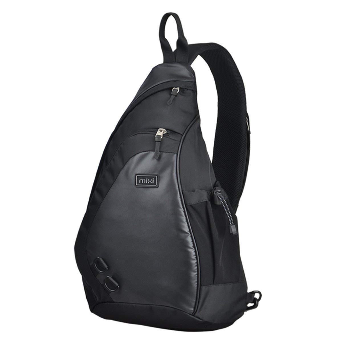 Single Strap Shoulder Crossbody Backpack, 17-Inch, Blue or Black - $10.91 FS