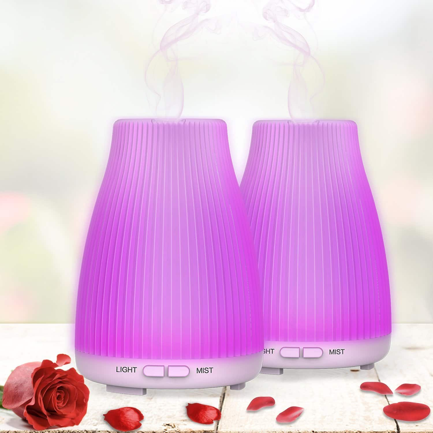 2-Pack Neloodony 100mL Cool Mist Ultrasonic Essential Oil Diffuser $11.99 @ Amazon