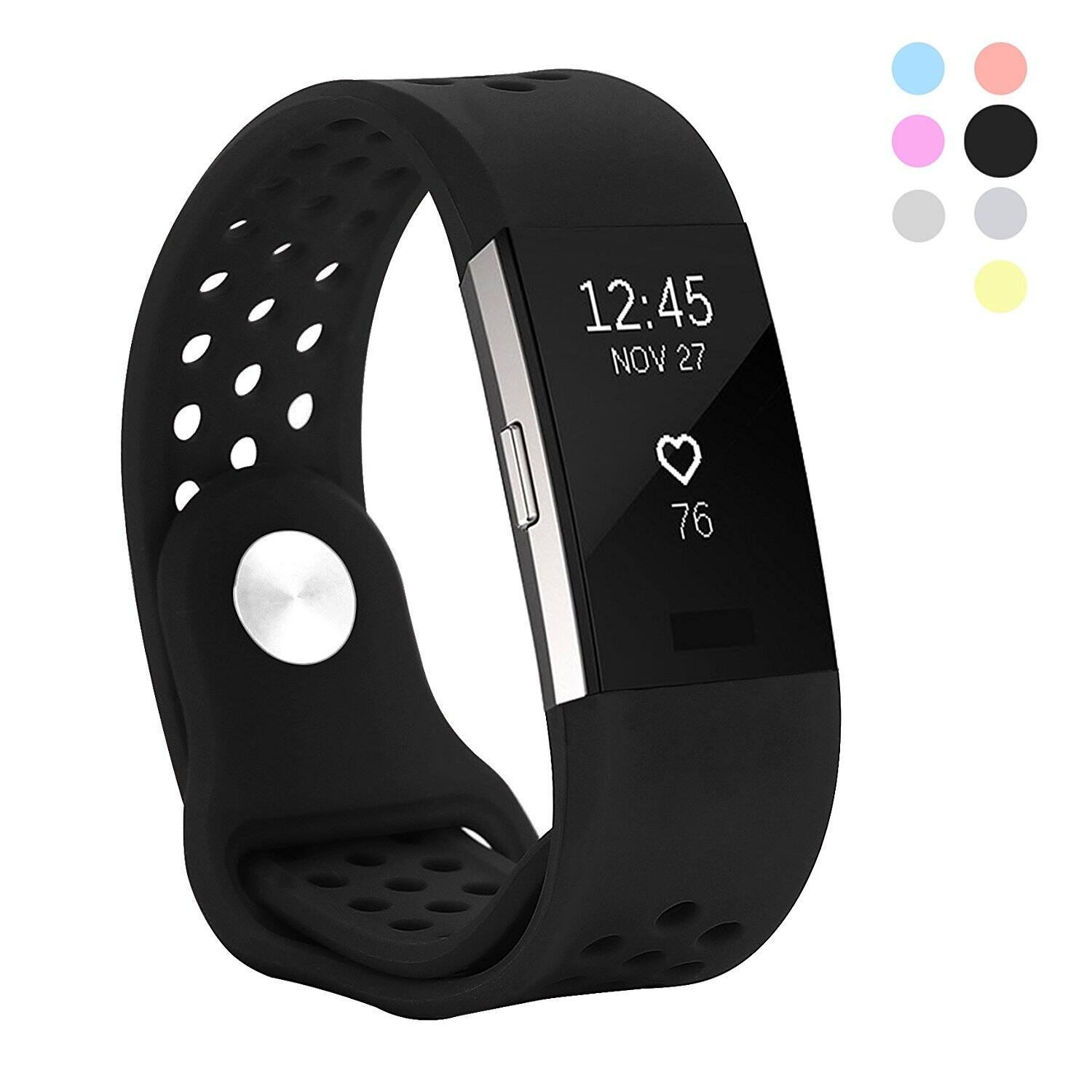Hanlesi Fitbit Charge 2 Bands Silicone (Various colors) from $5.49