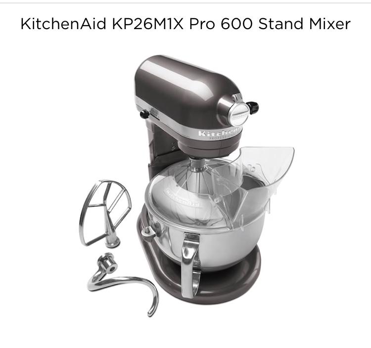 Kitchenaid KP26M1X Pro 600 Mixer + $90 Kohl's cash $227.49 after PM and MIR. B&M YMMV