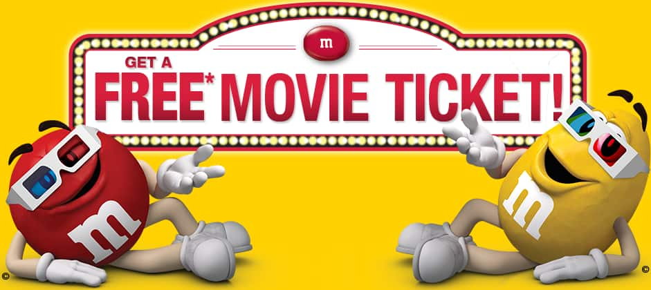 Free $12 Movie Ticket (Hollywood Movie Money) w/ Purchase of Specially Marked  M&M'S