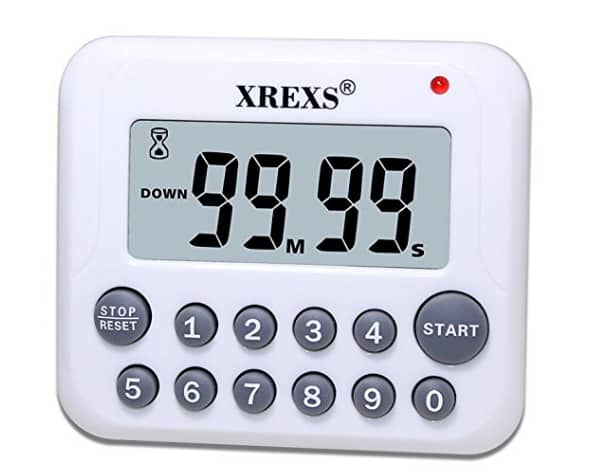 XREXS Digital Kitchen Cooking Timer with Magnet Back and Clip $5.99 @Amazon
