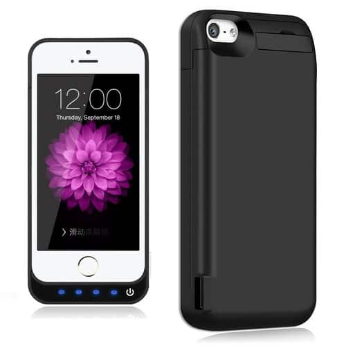 TQTHL [4800mAh] iPhone 5 / 5S / 5C / SE Charger Battery Case $13.59 + Free Shipping
