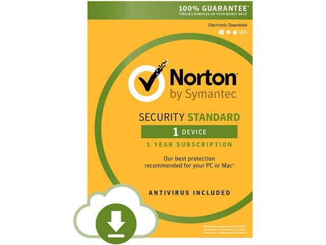 Symantec Norton Security Standard - 1 Device - Download Your Price: $14.99 With Promo Code EMCBBBE52