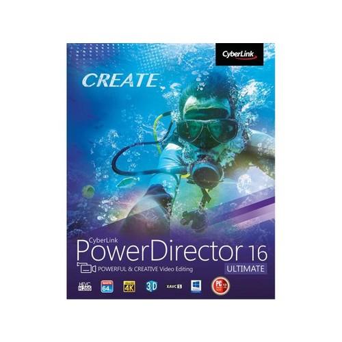 CyberLink PowerDirector 16 Ultimate W/PROMO CODE EMCBBCF49 $59.99