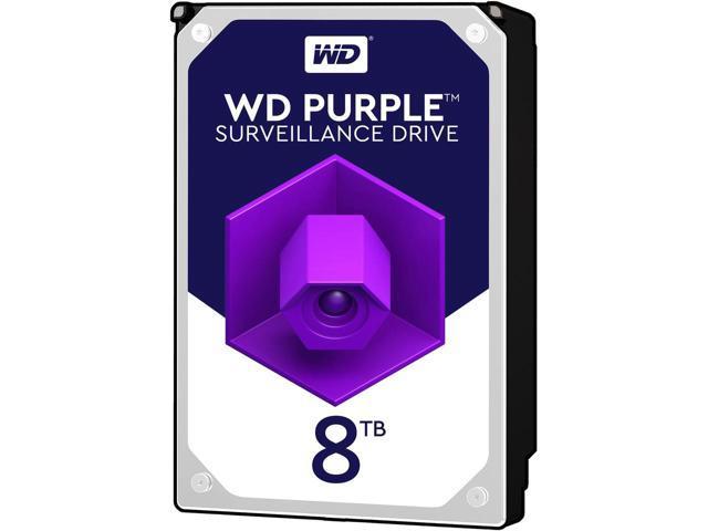 Western Digital Hard Drive WD80PURZ WD Purple AV 3.5 8TB 128MB SATA 6Gb/s Bulk  w/ promo code EMCBCRJ24 $239.99
