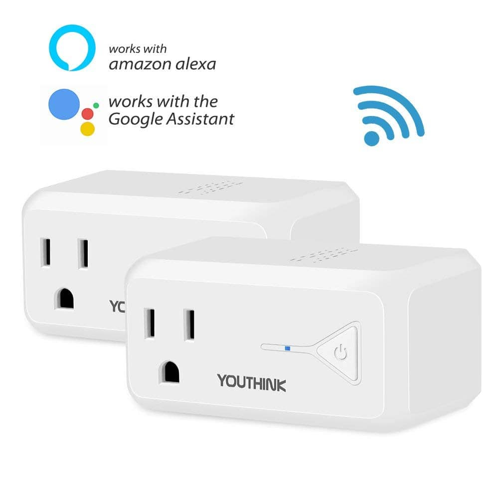 2 Pack Mini Socket Outlet Compatible with Amazon Alexa Echo and Google Home - $12.99 @Amazon $12.99