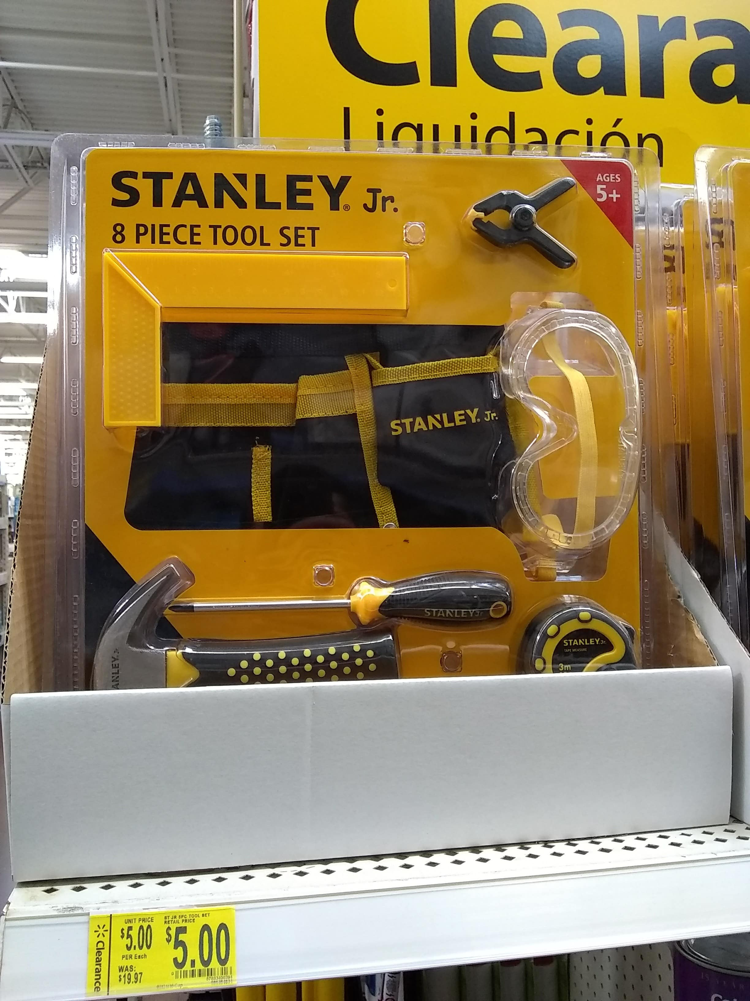 Stanley Jr. 8 Piece Tool Set - $5.00 - YMMV