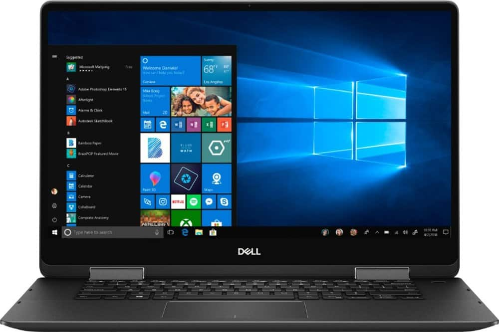 "Dell - Inspiron 2-in-1 15.6"" 4K Ultra HD Touch-Screen Laptop - Intel Core i7 - 16GB Memory - 512GB Solid State Drive - Black - $899"