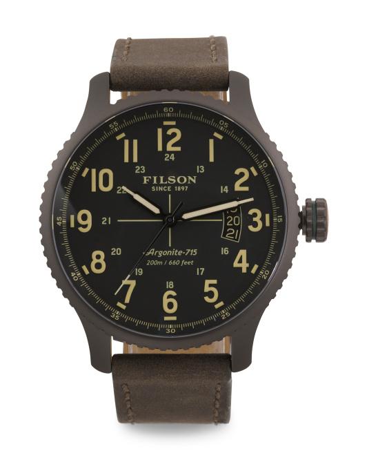Filson watches made by Shinola $160