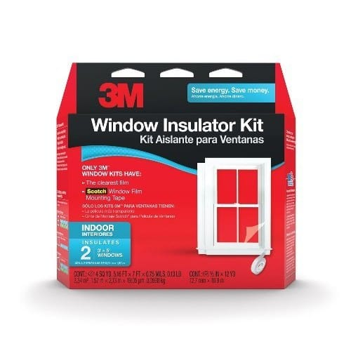 3M Indoor Insulator Kit, 2-Window [2 Windows, Indoor] $4.98 + Free Shipping