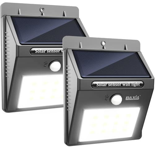 12 Leds Wireless Waterproof Solar Security Light (2 Packs) for $11.99 at Amazon