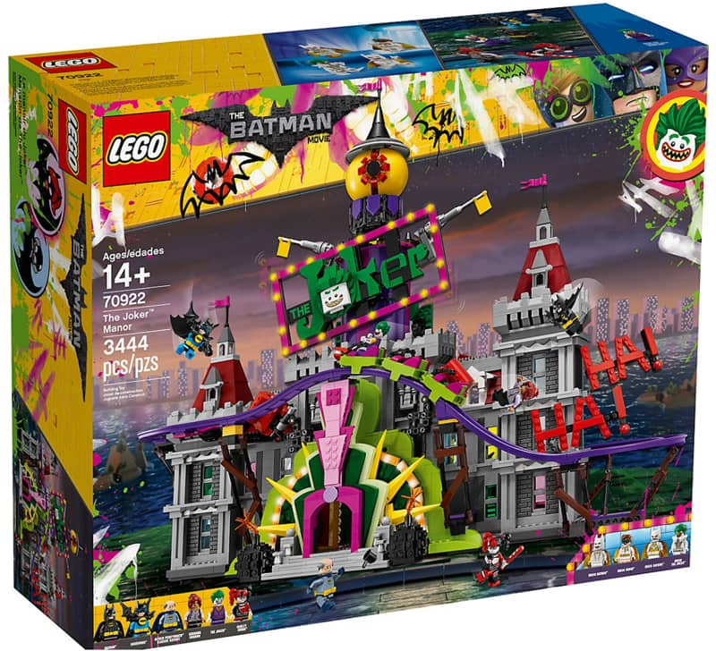 LEGO Batman Movie The Joker™ Manor 70922 with four (4) free items and Double VIP points + Free Shipping $269.99