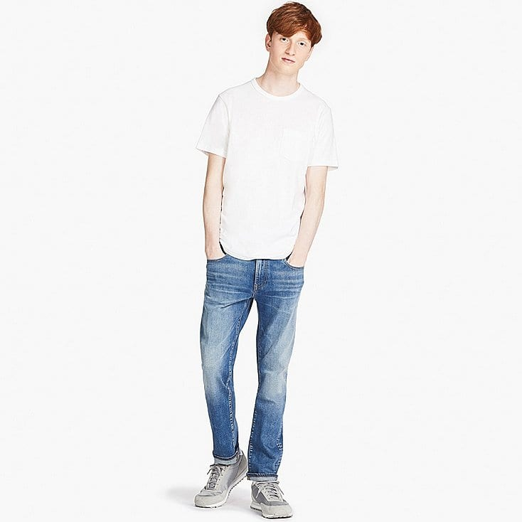Uniqlo men's slim-fit damaged jeans with free shipping $9.90