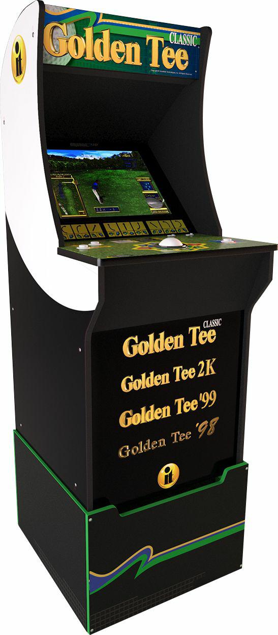 Arcade1up Golden Tee Arcade Cabinet With Riser Black 249