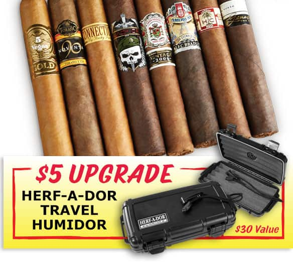 First Class Premium Cigar Sampler: 8 Cigars for $10 (add +$5 for Herf-a-Dor) + $2.99 shipping