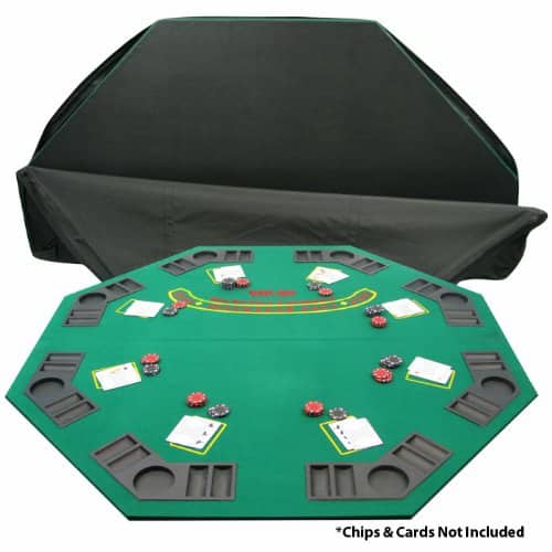 "Trademark 48"" 2 Fold Poker/Blackjack Tabletop w/ Travel/Storage Bag - $17.77 @ Amazon"