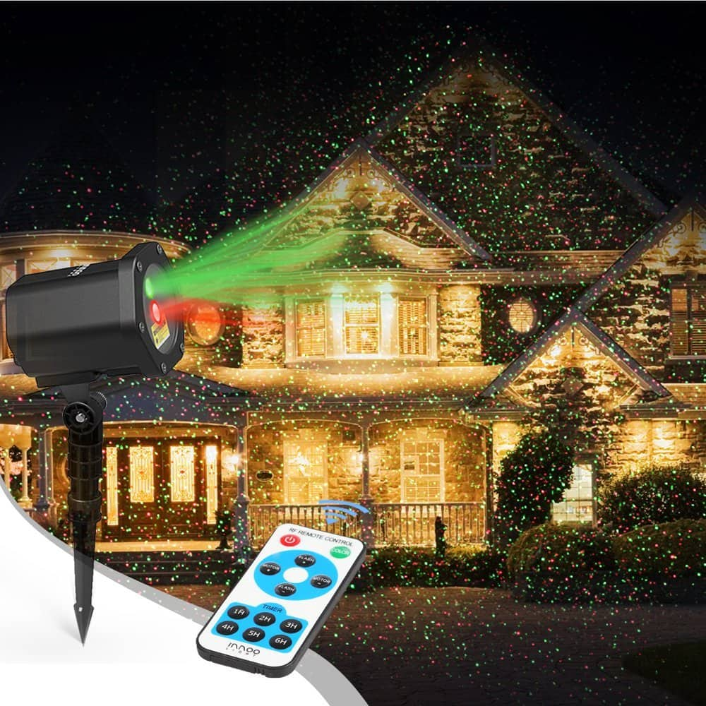 Christmas Laser Lights Red and Green Outdoor Holiday Lights $26.67 @Amazon