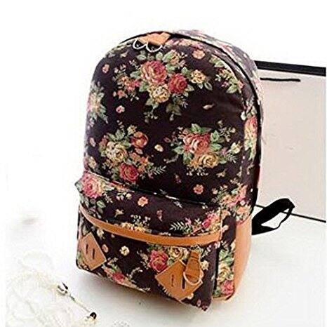 14inch Women Light Weight Canvas Bookbag Laptop Bag Daypack (Various Colors) - $10.99 @Amazon