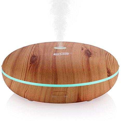 Housmile Wood Grain 350ml Ultrasonic Essential Oil Diffusers $13.99 @ Amazon