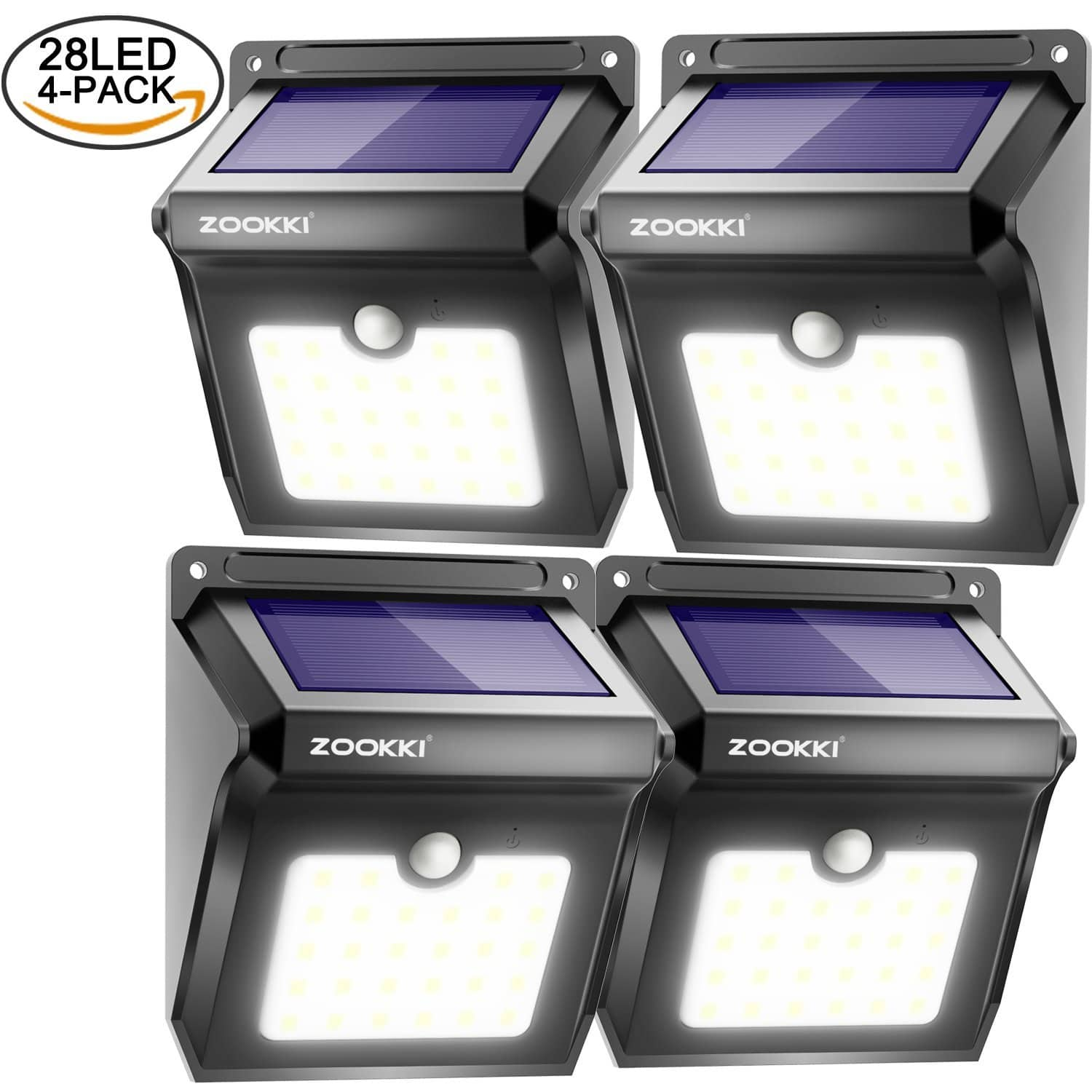 Upgraded 28 LEDs Wireless Waterproof Solar Light (4 Pack) for $23.09 @Amazon