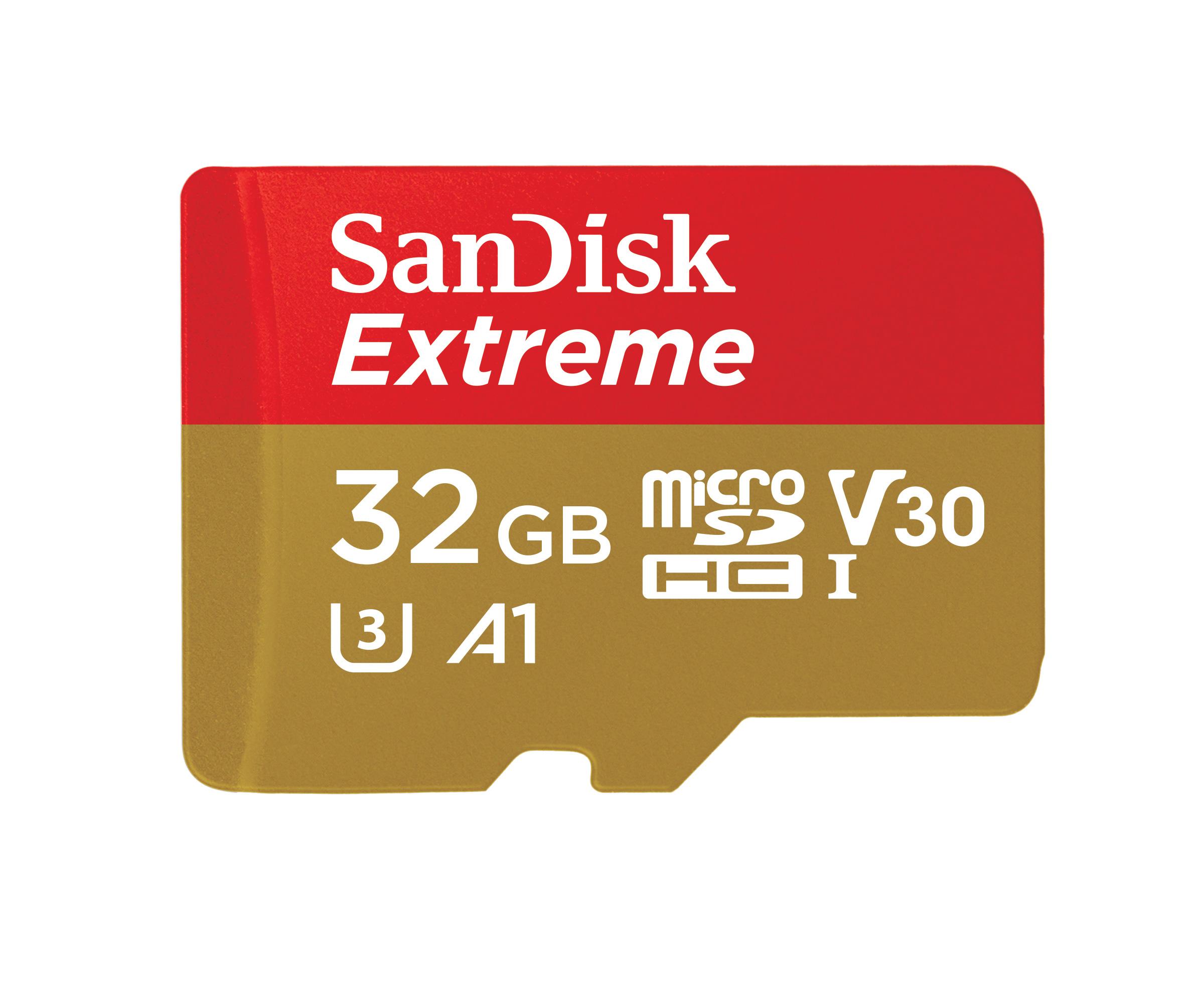SanDisk Extreme PLUS U3 V30 Class 10 32GB microSD Card $5 Walmart YMMV